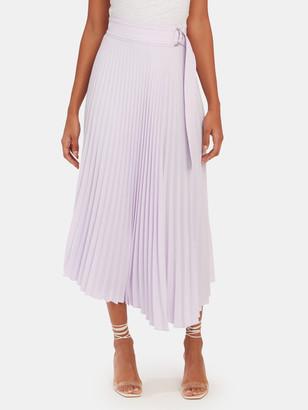 A.L.C. Arielle Pleated Asymmetrical Midi Skirt