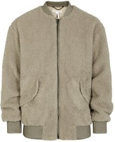 Helmut Lang Stone Faux Shearling Bomber Jacket