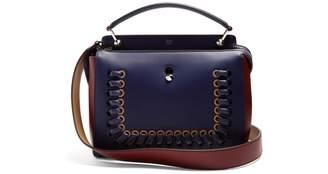 Fendi Dot Com Navy Leather Handbags