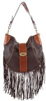 Mulberry Whipstitched Fringe Hobo
