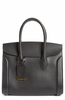 Alexander McQueen Large Heroine Calfskin Leather Shopper - Black