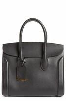 Alexander McQueen Large Heroine Calfskin Leather Shopper - Black