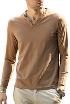 DOOXIUNDI Mens T-Shirts Casual Long Sleeves Base Shirt Slim V-Neck Undershirt (L, )