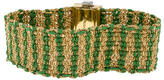 Carolina Bucci 18K Emerald & Diamond Woven Bracelet