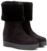 Salvatore Ferragamo Falcon suede concealed-wedge boots
