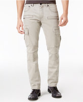 INC International Concepts Men's Slim Straight Fit Gray Cotton Cargo Pants, Only at Macy's