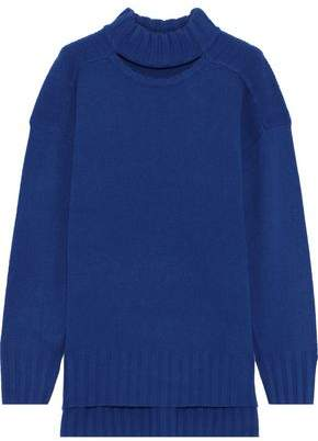 Equipment Stratford Cutout Wool And Cashmere-blend Sweater