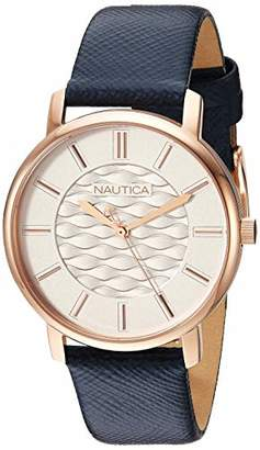 Nautica Women's Coral Gables Stainless Steel Japanese-Quartz Leather Strap