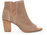 Toms Stucco Suede Perforated Women's Majorca Peep Toe Booties