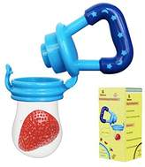 Biubee Baby Food Feeder-Silicone Teether Nibbler with Fresh Fruits Vegetable for Toddlers (M)