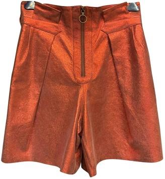 Philosophy di Lorenzo Serafini \N Orange Leather Shorts for Women