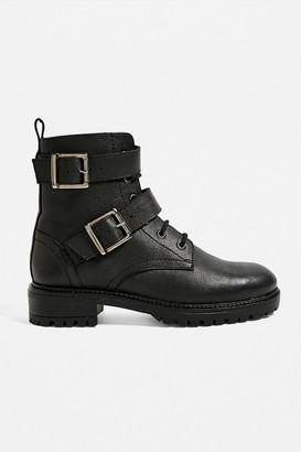 Urban Outfitters Buckle Lace-Up Boot