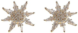 BONDEYE JEWELRY 14kt gold diamond topaz Calypso stud earrings