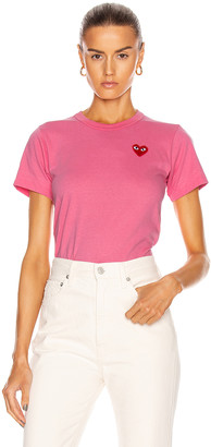 Comme des Garcons Red Heart Tee in Pink | FWRD