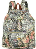 Oilily Silver Floral Diamond Backpack