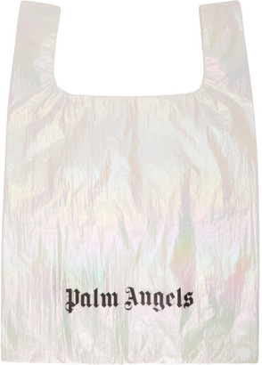 Palm Angels White Shiny Shopping Tote