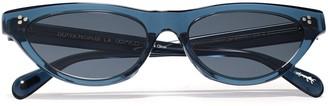 Oliver Peoples Zasia Cat-eye Acetate Sunglasses