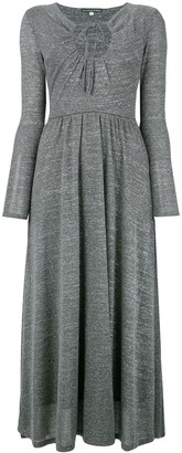 ALEXACHUNG Key-Hole Flared Dress