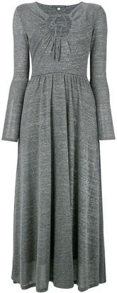 ALEXACHUNG Key-Hole Flared Dress