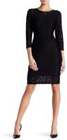 Laundry by Shelli Segal Geo Pattern Lace Sheath Dress