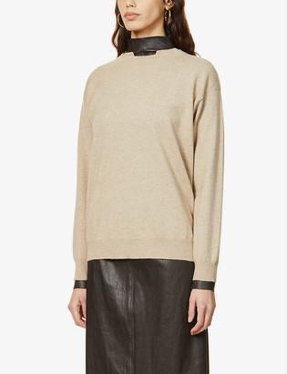 Brunello Cucinelli Monili-embellished cashmere jumper