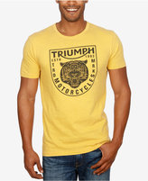 Lucky Brand Men's Graphic-Print Triumph Motorcycle T-Shirt with Tiger