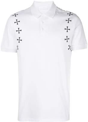 Neil Barrett cross short-sleeve polo top
