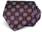 Canali Large Square Medallion Classic Tie
