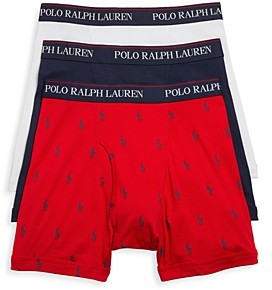 Polo Ralph Lauren Knit Boxer Briefs, Pack of 3