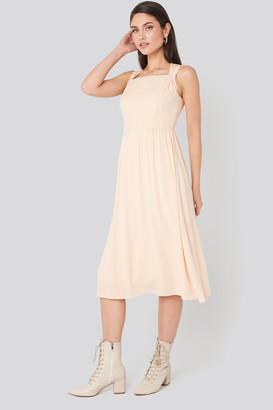 Milla Trendyol Shoulder Detail Midi Dress Pink