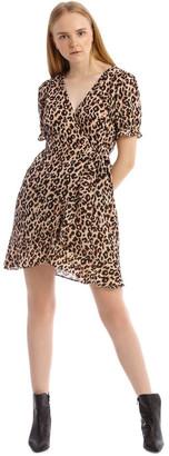 Tokito Short Puff Sleeve Wrap Dress