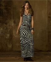 Denim & Supply Ralph Lauren Dress, Sleeveless Zebra-Print Racerback Maxi