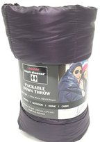 Black Diamond Double Packable Down Throw - Ultra Light 60 Inch X 70 Inch, Stuff Sack Included (Purple) by Double