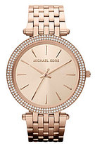 Michael Kors Darci Rose Gold Stainless Steel and Crystal Bracelet Watch
