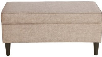 Red Barrel Studioâ® Petrillo Linen Upholstered Storage Bench Red Barrel StudioA Upholstery Color: Latte