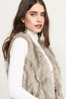Dynamite Long Faux Fur Vest