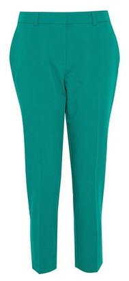 Dorothy Perkins Womens Dp Petite Emerald Ankle Grazer Trousers