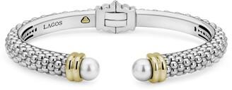 Lagos Luna Pearl Cuff Bracelet