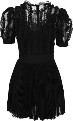 Dolce & Gabbana Lace Ruffled Mini Dress