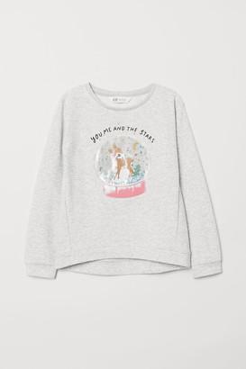 H&M Sweatshirt with Motif - Gray