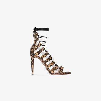 Aquazzura X Browns 50 black Very Amazon 110 leopard print leather sandals