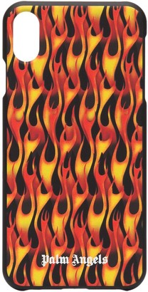 Palm Angels flame-print iPhone XS Max case