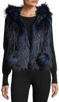 Ramy Brook Hollie Hooded Faux-Fur Vest