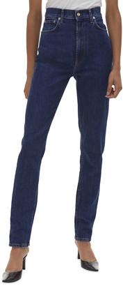 Helmut Lang Femme Hi Spikes Denim Skinny Jeans