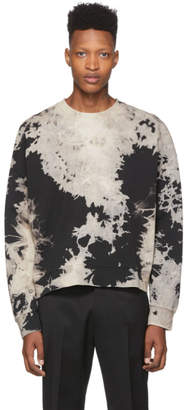 Cmmn Swdn Grey and Black Trek Bleached Sweatshirt