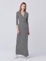 Diane von Furstenberg Abigail Maxi Silk Jersey Wrap Dress