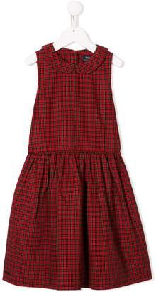 Ralph Lauren Kids sleeveless tartan pattern dress