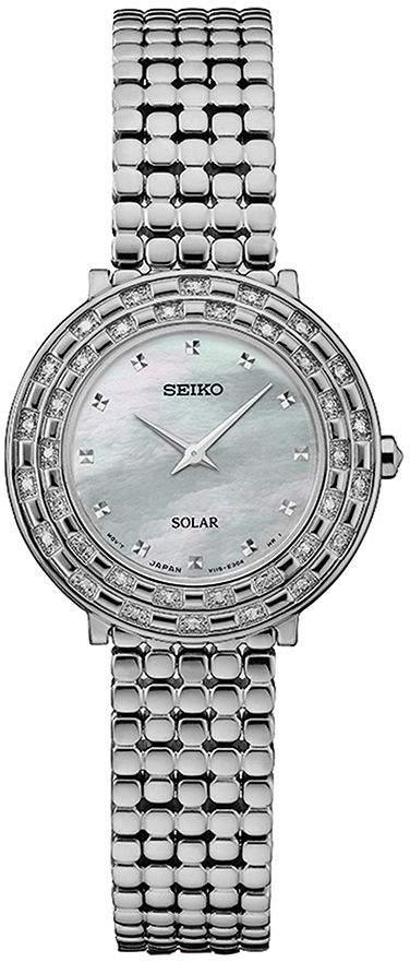Seiko Women's Stainless Tressia Diamond Solar Bracelet Watch
