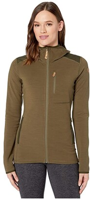 Fjallraven Keb Fleece Hoodie (Dark Grey) Women's Sweatshirt