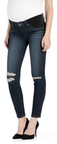 Paige Women's Transcend - Verdugo Ripped Ankle Ultra Skinny Maternity Jeans
